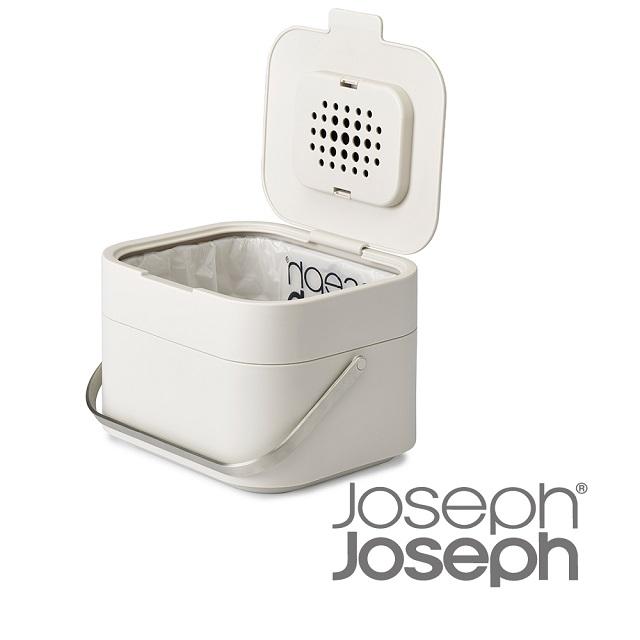 【Joseph Joseph】智慧除臭廚餘桶(灰)/(白)/(天空藍),贈廚餘桶專用袋7入