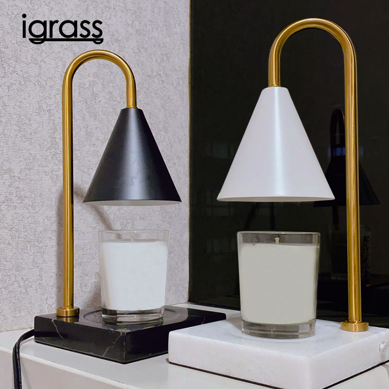 (預購,預計3/15開始出貨)【iGRASS】復古造型大理石融蠟燈