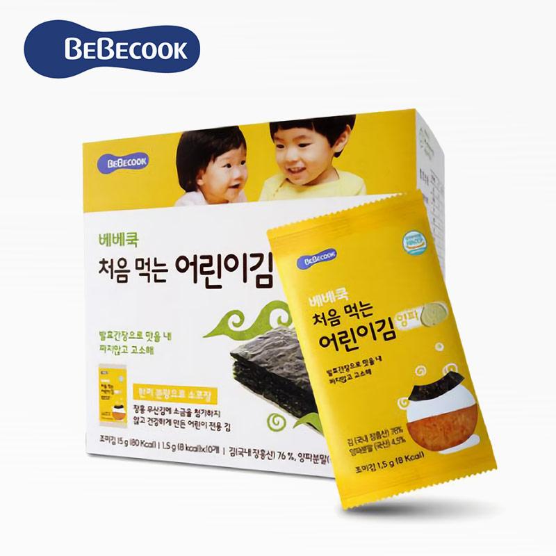 【BEBECOOK】寶膳 幼兒超值海苔4入組.買三送一(洋蔥*2+胡蘿蔔*2)