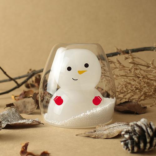 【GOOD GLAS】聖誕系列-雪人雙層杯