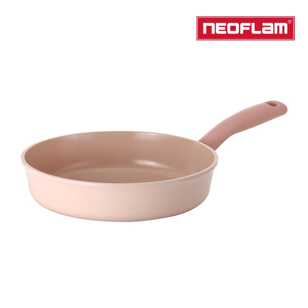 【NEOFLAM】Sherbet蜜桃雪酪-26cm平底鍋(IH適用/不挑爐具/可直火)