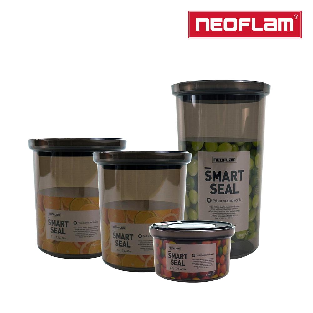 【NEOFLAM】SMART SEAL聰明封抗菌遮光儲物罐4件組A組合