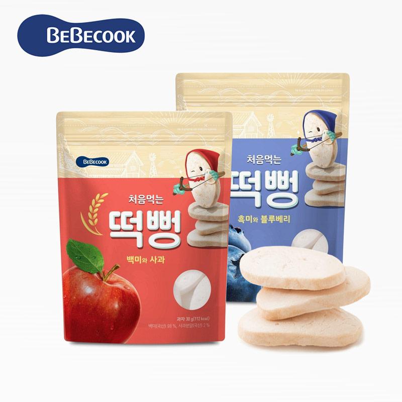 【BEBECOOK】韓國智慧媽媽 綿綿米餅*2+蘋果紅蘿蔔*1