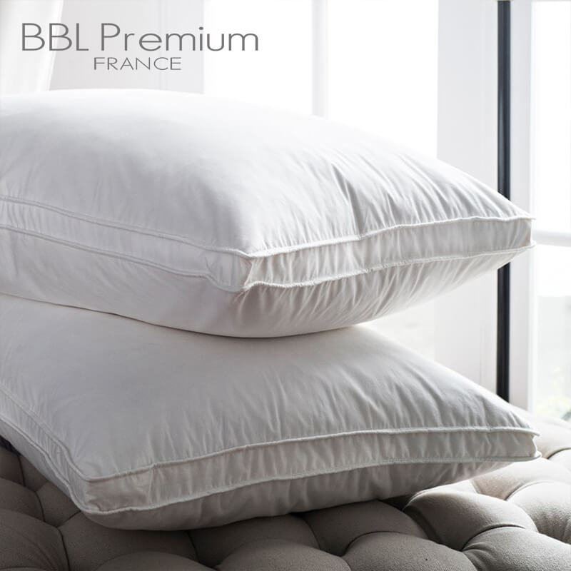 【BBL Premium】飯店款100%天然水鳥羽毛側立枕(一對)