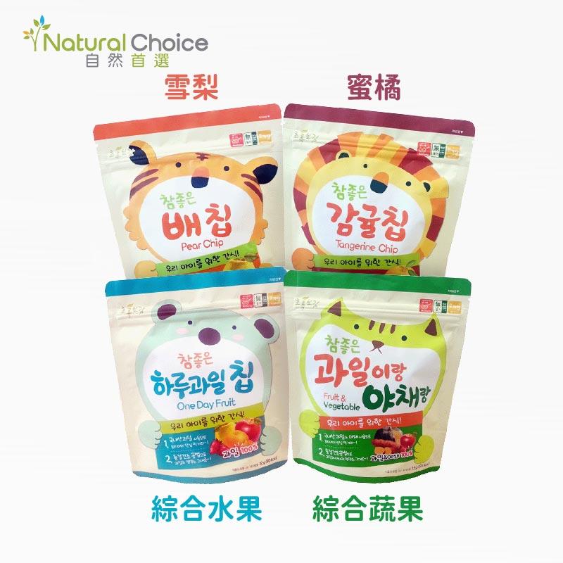 【Natural Choice】韓國自然首選水果脆片精選全組合4入組