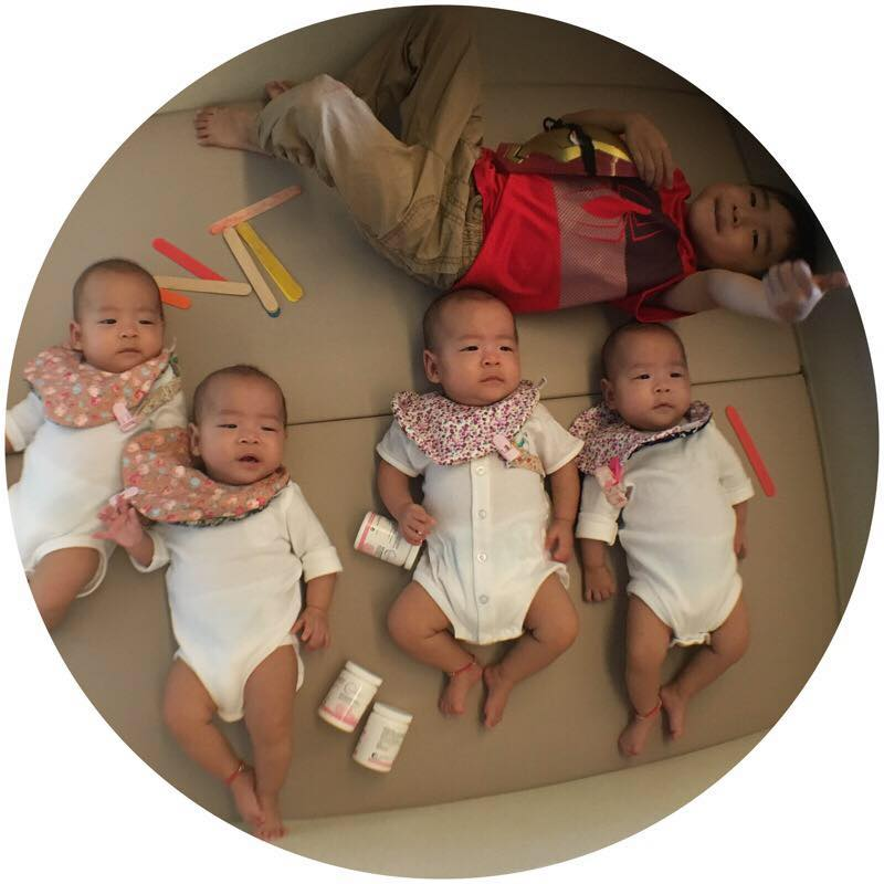 1男+4胞胎=五寶媽