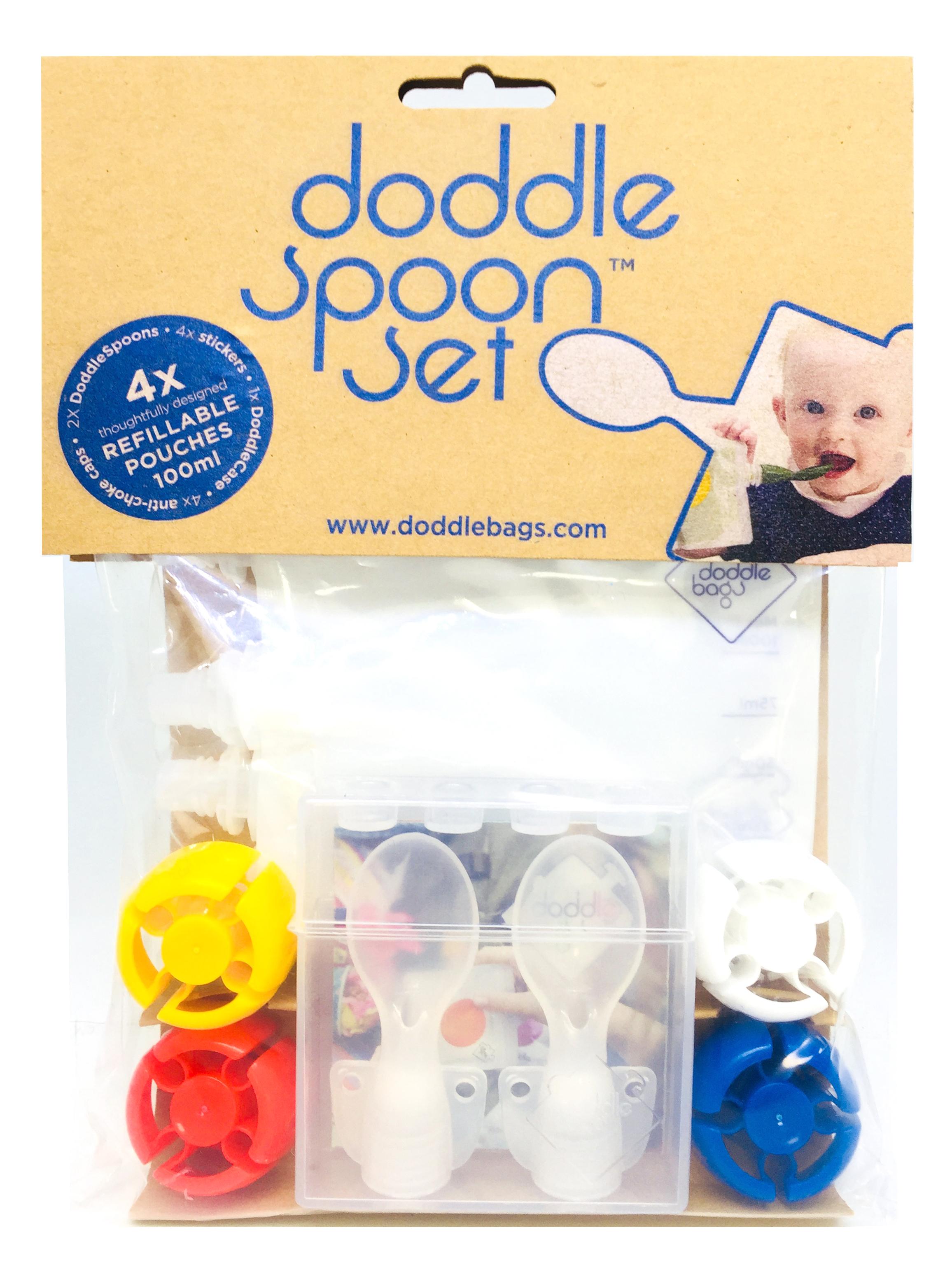 【英國doddlebags】彩虹荳荳袋 副食品神器(2湯匙+4入袋)