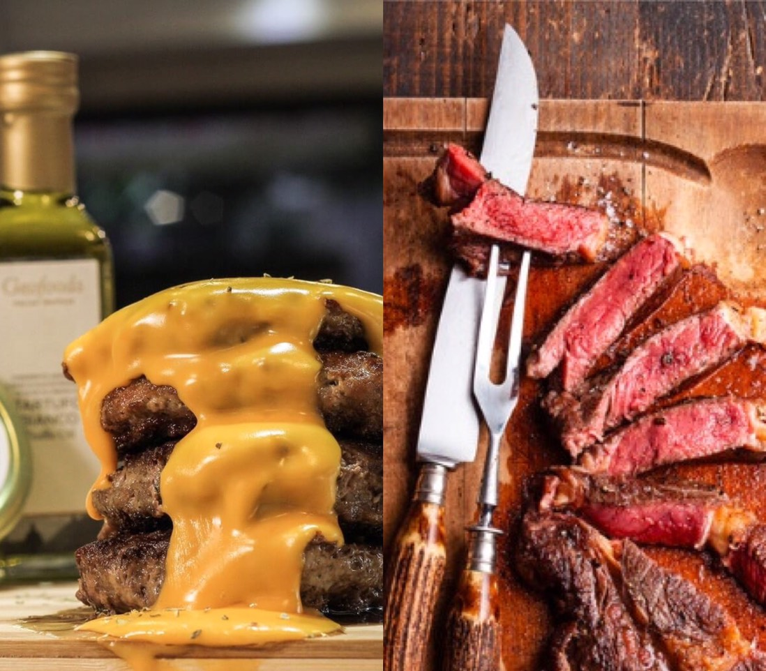 【法蘭克肉舖子】美國無骨牛小排choice + 松露奶醬漢堡排 (嫩肩牛+伊比利豬組合)