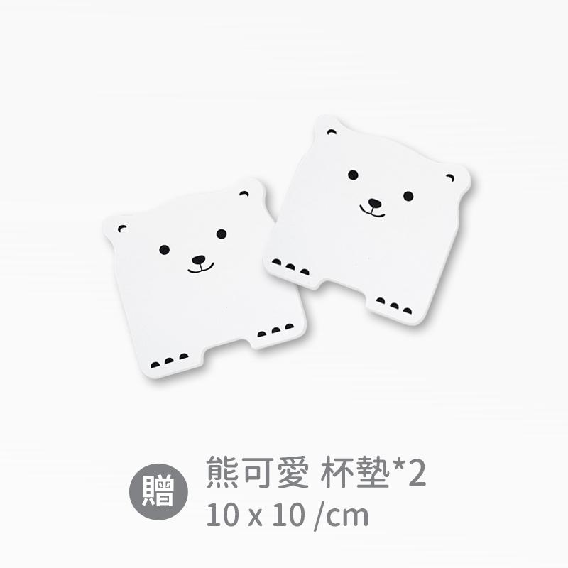 【森呼吸矽藻土】新一代超薄吸水踏墊 熊可愛 MIT台灣製 (兩入組)
