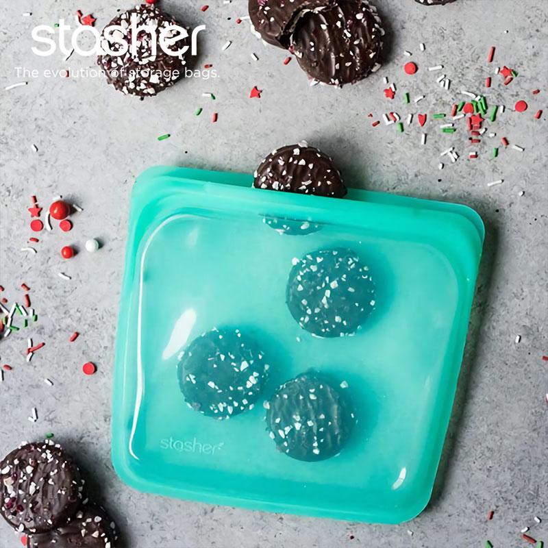 【美國Stasher】方形矽膠密封袋(9色)
