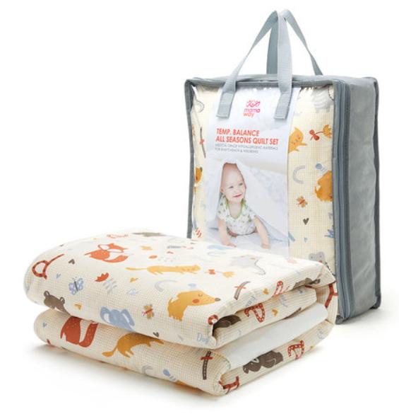 【mamaway】寶寶安撫被組+智慧調溫抗菌三合一成長枕