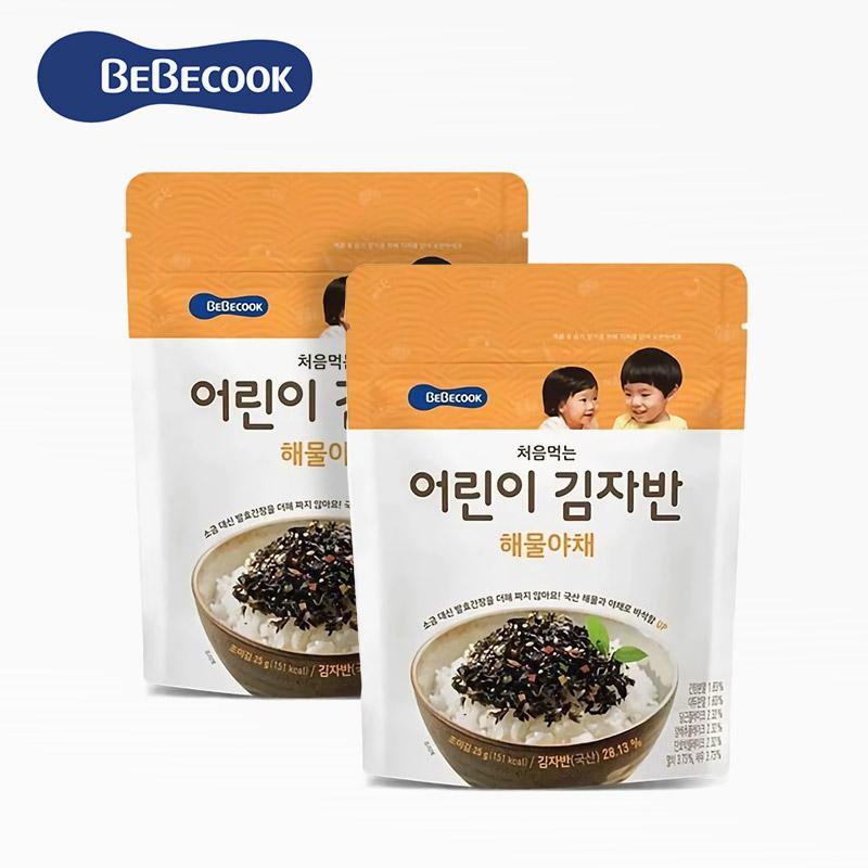 【BEBECOOK】韓國 智慧媽媽 嬰幼兒初食海味海苔酥2入組(原味*2)